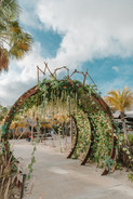 Entrance gate at MOOD Beach Curacao