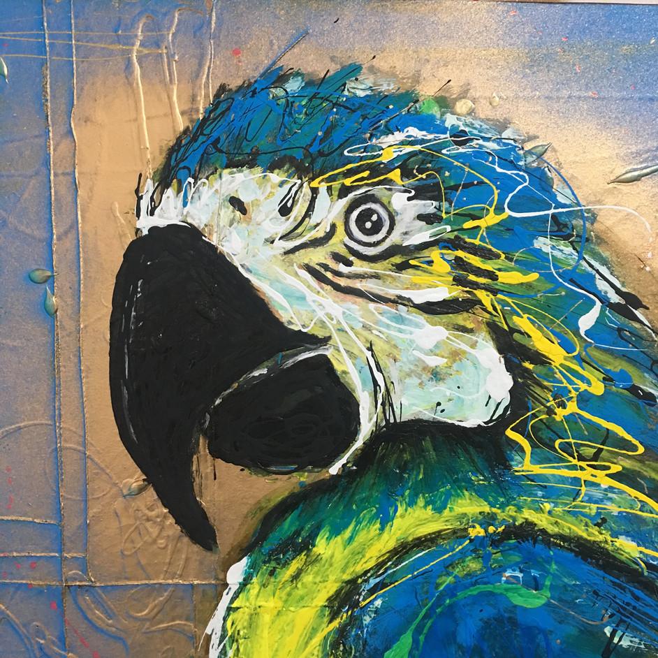 """La Papagena"" painting -close up"
