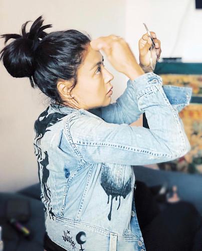 Gaby Rachel with a customized jacket