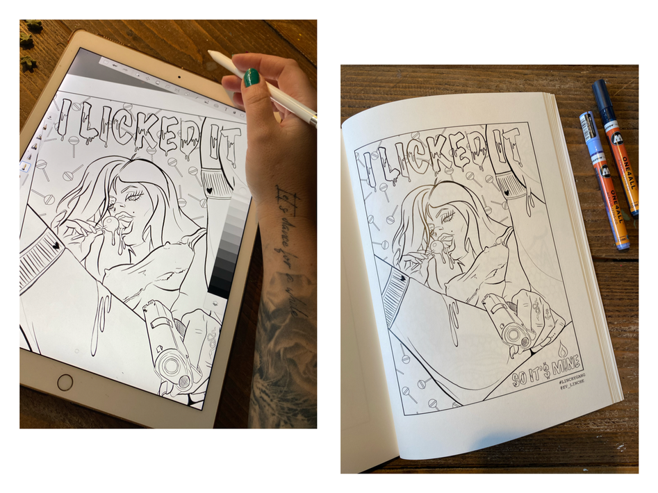 LINCHY'S NAUGHTY COLORING BOOK