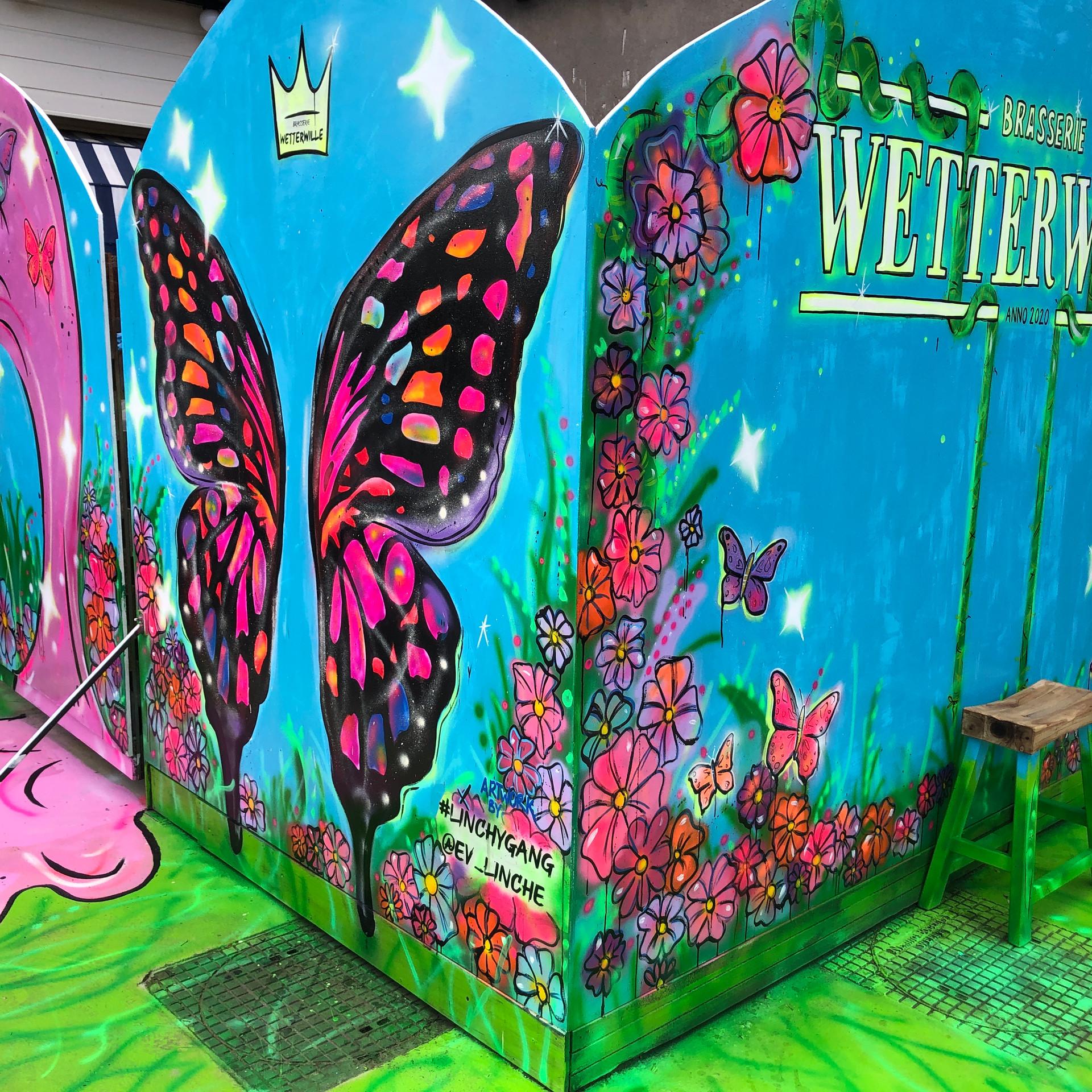 selfie wall at restaurant Wetterwille -Oud Loosdrecht