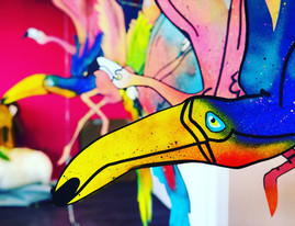 TROPICAL PARTY DECORATION FOR BLUE MARLIN IBIZA