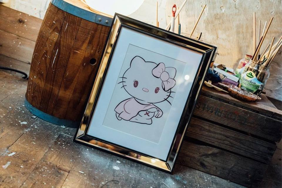Hello Titty -framed art print
