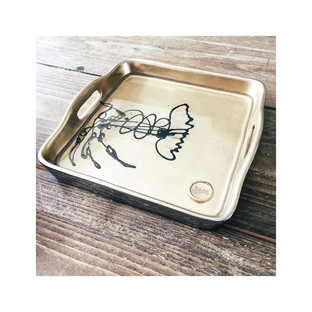 """""""Gold Lobster"""" tray"""