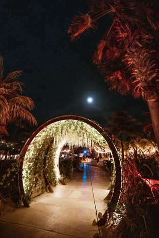 Entrance gate at MOOD Beach Curacao