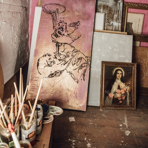 Satchmo @ my Studio