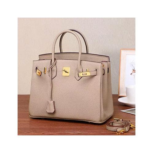 Taupe Genuine  Leather bag