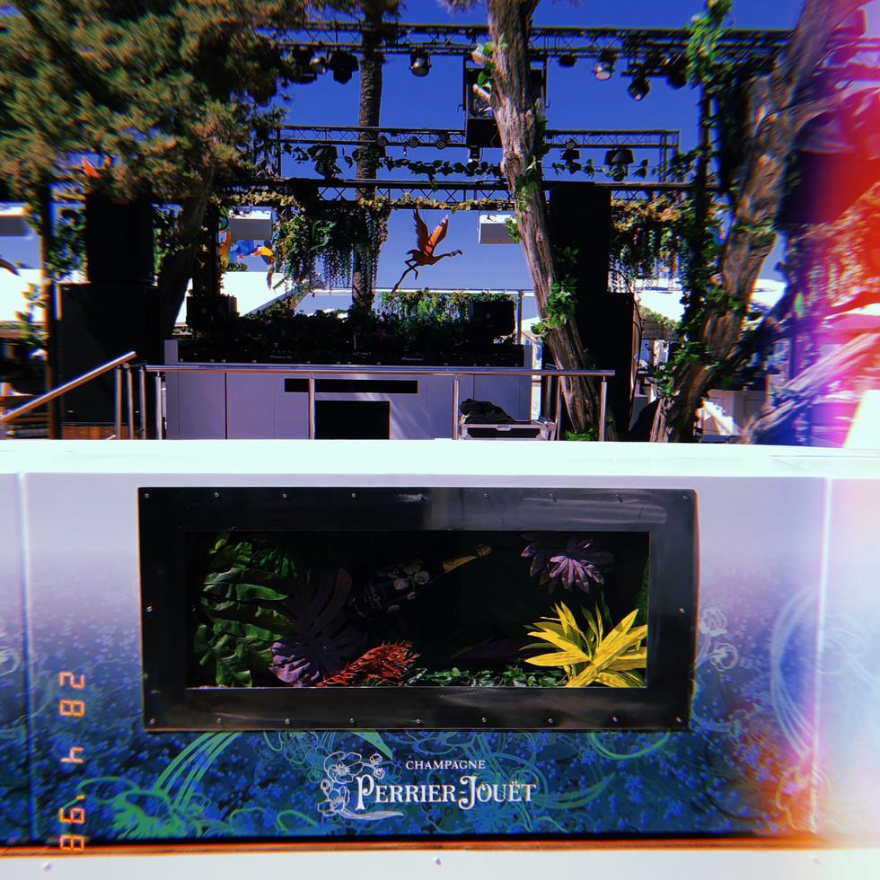 My floral and handmade/ handpainted Club decorations @ Blue Marlin Ibiza (ESP)