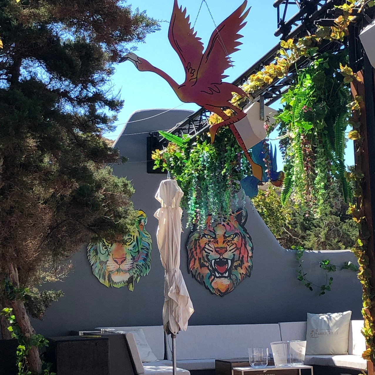 hand made club decorations for Blue Marlin Ibiza