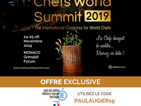 {Partenariat} Chefs World Summit 2019