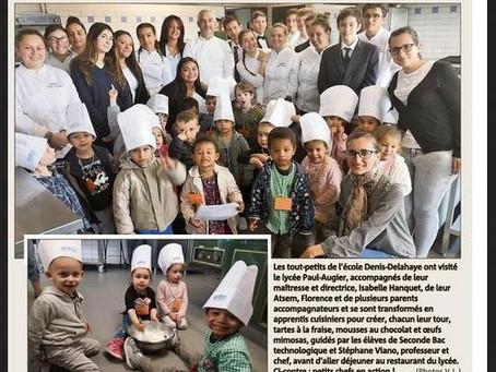 {La presse parle de nous} Atelier culinaire