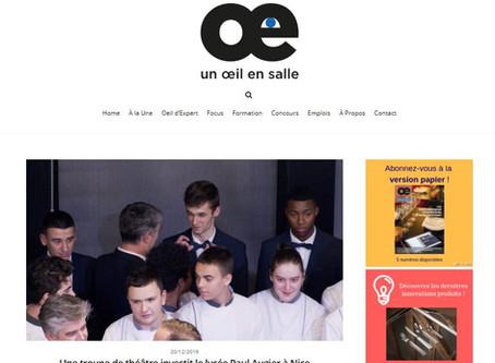 {La presse parle de nous} Un groupe de théâtre investit le lycée Paul Augier