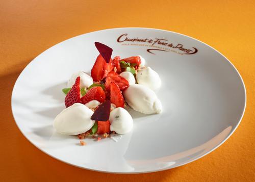 Le dessert de Thomas Pol réalisé à partir du panier mystère