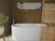 Wellnesbereich mit freistehender Badewan