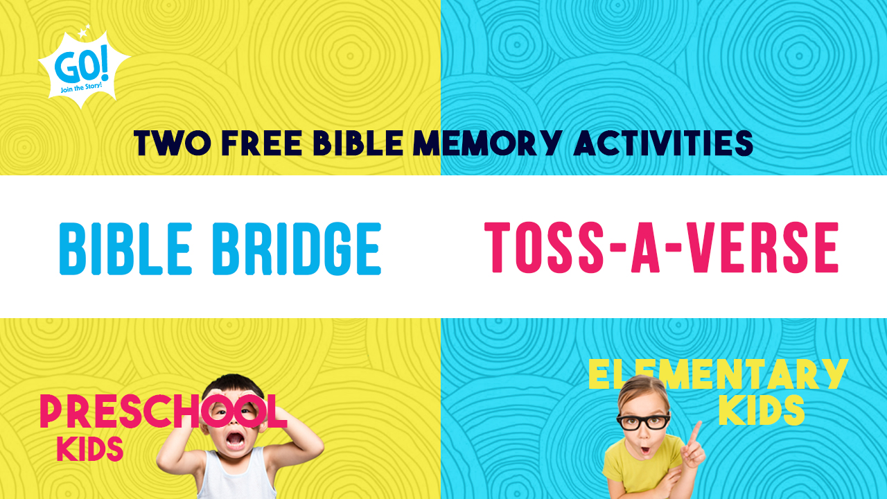 2 FREE Bible memory activities for preschool and elementary