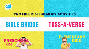 2 FREE Bible memory activities for preschool and elementary kids