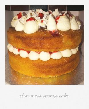 eton mess sponge cake