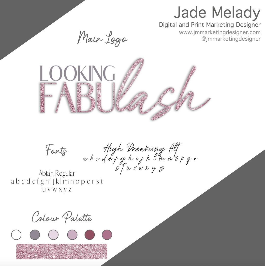 Looking fabulash logo designed by JMMARKETINGDESIGNER