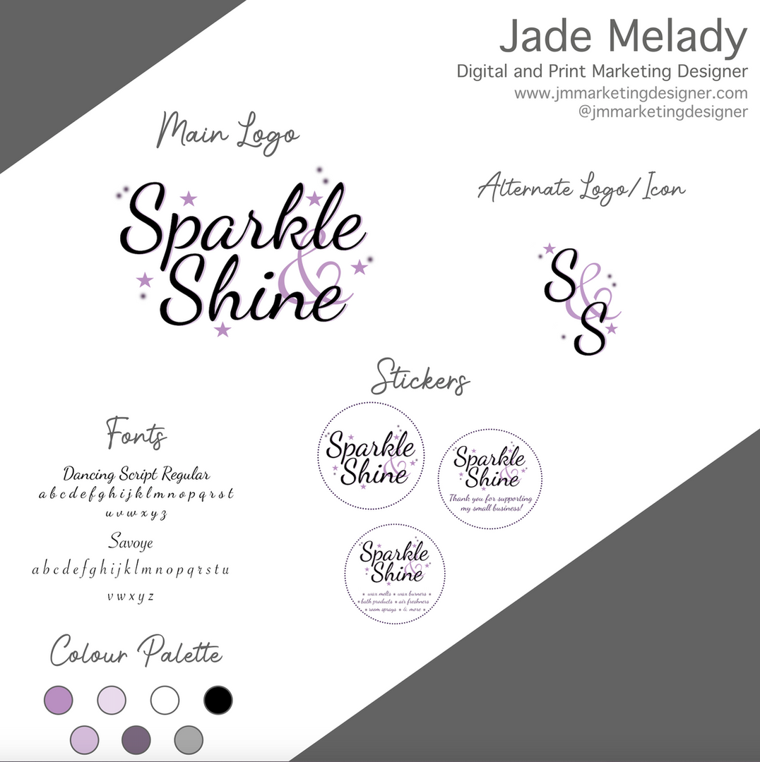 Branding tile Sparkle & Shine by JMMARKETINGDESIGNER
