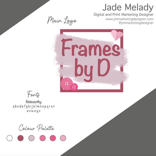 Frames by D Logo design by JMMARKETINGDESIGNER