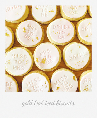 bride to be iced biscuits