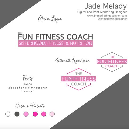 The Fun Fitness Coach Logo design by JMMARKETINGDESIGNER