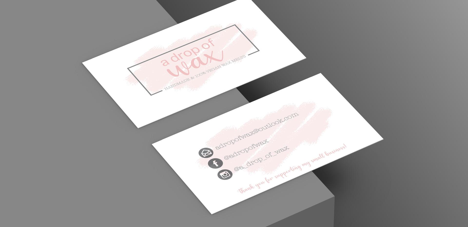 A Drop of Wax Business Card design mockup