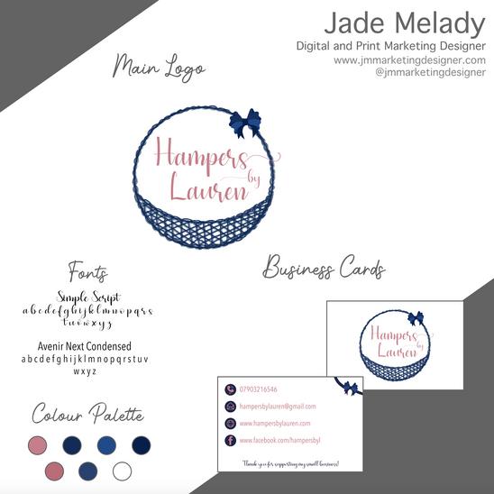 Hampers by Lauren logo and branding by JMMARKETINGDESIGNER