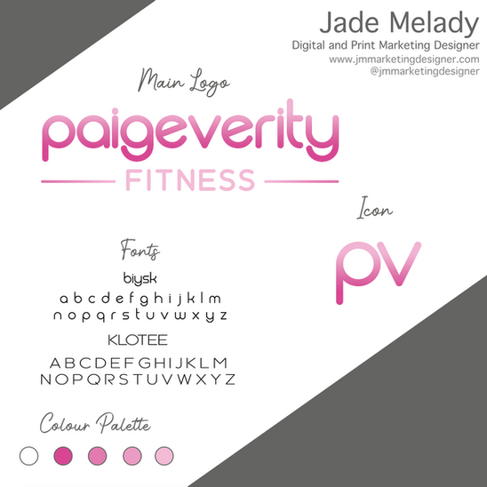Paige Verity Fitness Logo and Basic bran