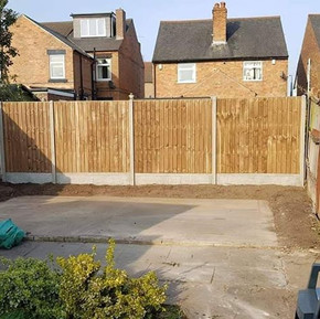 New fencing and concrete panels supplied
