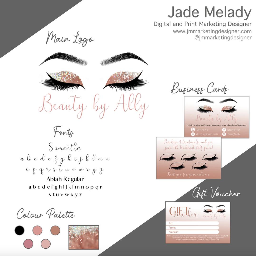Beauty by Ally Logo design by JMMARKETINGDESIGNER