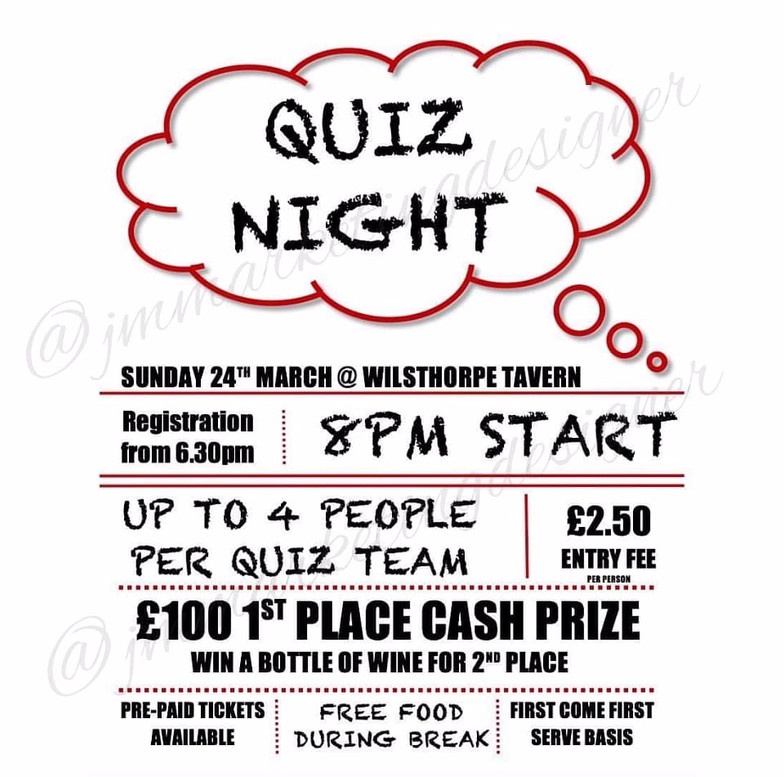 Pub Quiz Night Poster