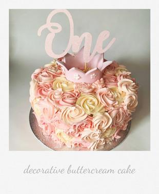 elegant buttercrea cake