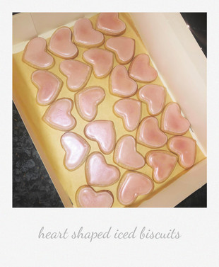 heart iced biscuits