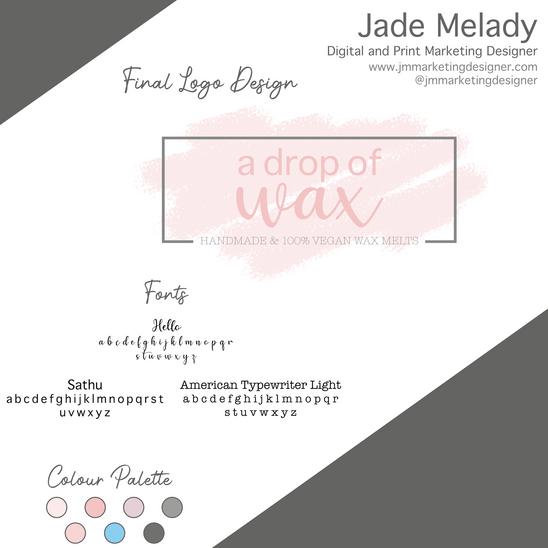 a drop of wax branding and logo by JMMARKETINGDESIGNER