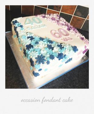 joint birthday cake flowers fondant