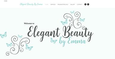 Elegant Beauty by Emma Website Design.pn
