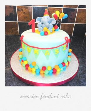 elephant cute cake