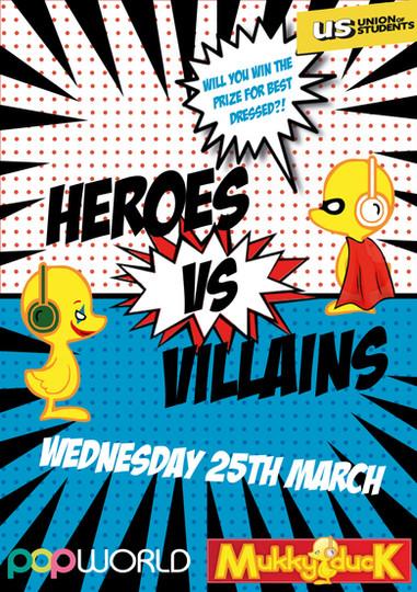 heroes vs villains Mukky Duck poster