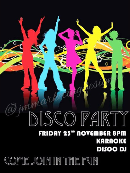 In-House Disco Party Poster