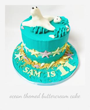 ocean themed birthday buttercream cake.p