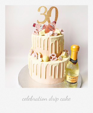 celebration alcohol drip cake pink.jpg