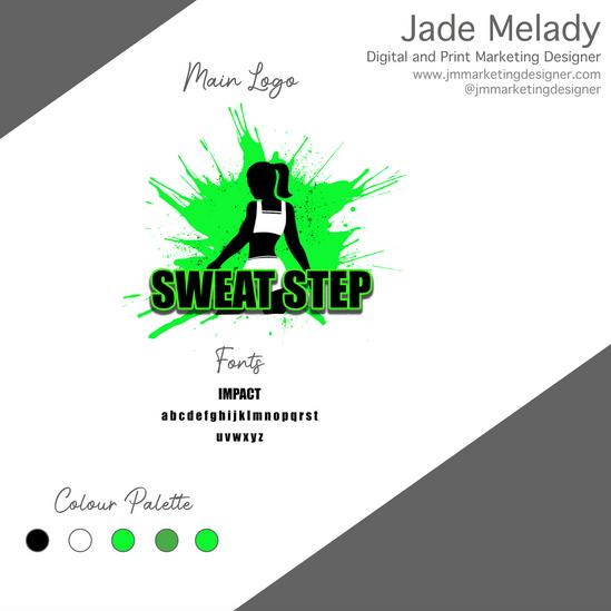 Sweat Step logo design by JMMARKETINGDESIGNER