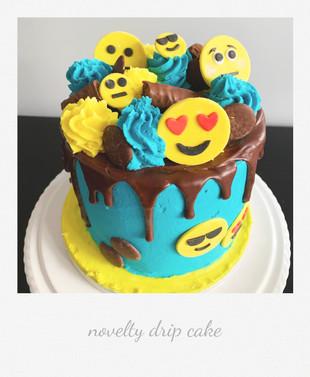novelty emoji drip cake