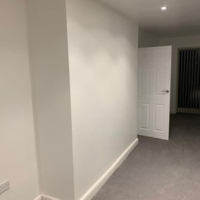 Skirting boards fitted and room decorate