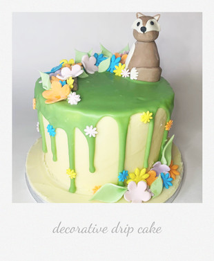 decorative drip cake