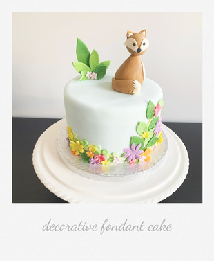 decorative fondant cake