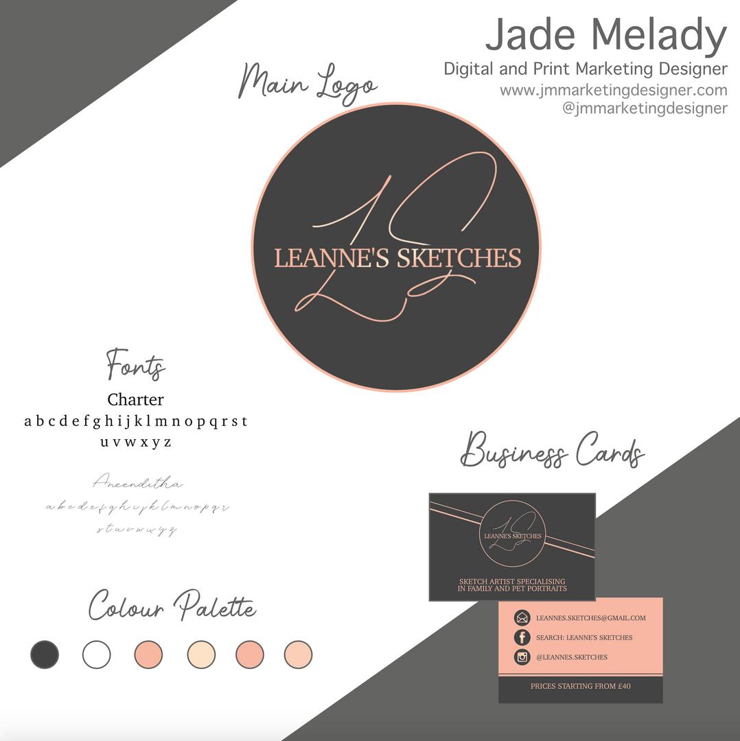 Leanne's Sketches logo and branding by JMMARKETINGDESIGNER