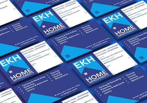 EKH Home improvements bsuiness card design