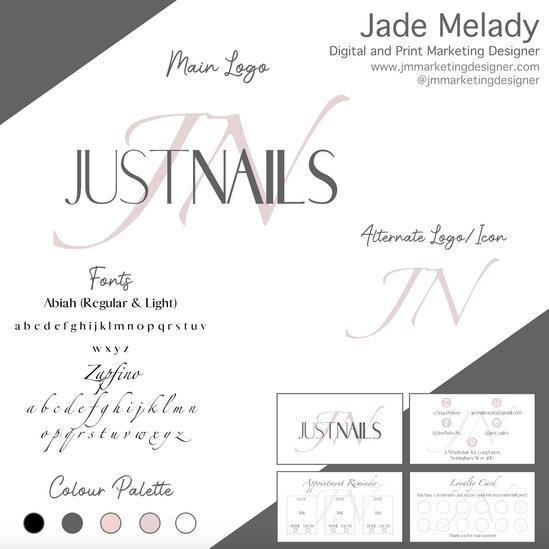 Just Nails Logo Design by JMMARKETINGDESIGNER